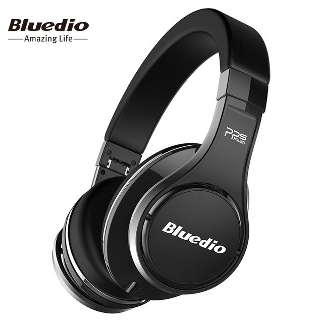 Bluedio u (ufo) genuíno high-end fone de ouvido bluetooth patenteado 8 drivers/som 3d/liga de alumínio/over-ear fone de ouvido sem fio de alta fidelidade