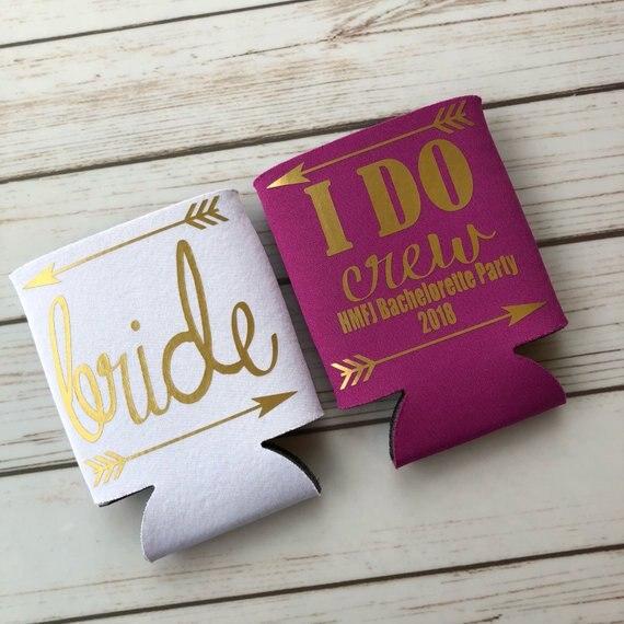 Do Bridesmaids Buy Wedding Gifts: Personalize Wedding I Do Crew Bridesmaid Gold Drink