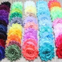 """1300 шт 2,"""" шифоновые заколки для волос с цветами для детей аксессуары для девочек заколки для волос Цветы, DIY Новорожденные повязки"""