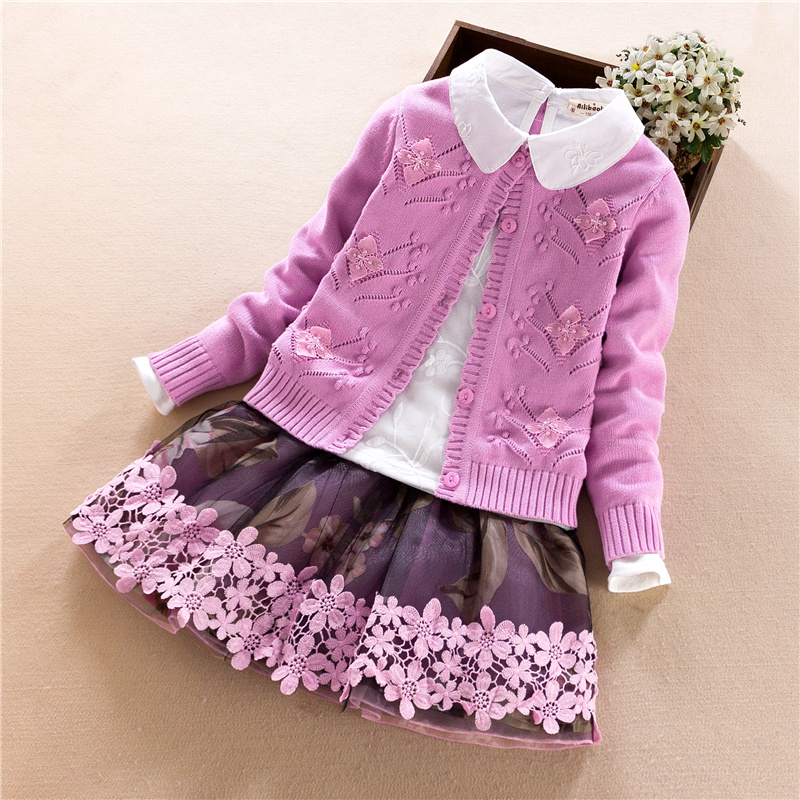 Big Girls Sets Children Clothing Set Winter 3Pcs Warm princess Coat+T-shirt + Skirt Kids Girl Clothes Suit Costume 7 8 10 12 14Y teenage girls clothes sets camouflage kids suit fashion costume boys clothing set tracksuits for girl 6 12 years coat pants