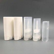 Бесплатная доставка в Филиппины, Малайзия, 1000 шт., 15 г, 15 мл, прозрачная белая пластиковая пустая помада, контейнер для бальзама для губ