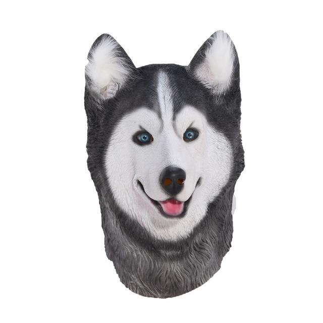 Halloween Siberian Husky Dog Latex Mask Novelty Costume Party Fancy