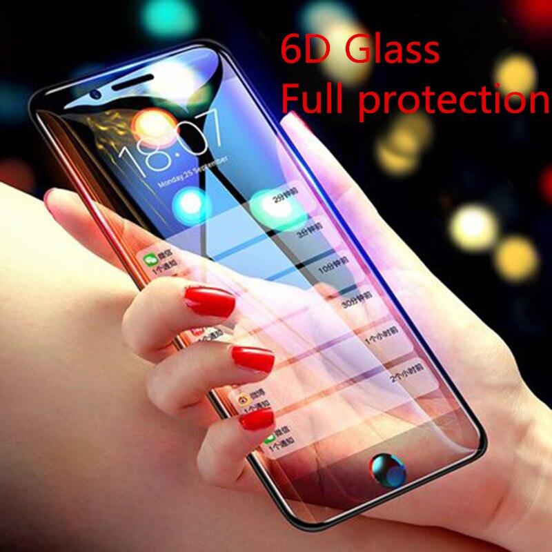 Image 2 - 6D 9H твердость полное изогнутое закаленное стекло для iPhone 7 Plus для iPhone 6S 6 8Plus 11 Pro X XR XS Max 7 Plus Защитная пленка для экрана-in Защитные стёкла и плёнки from Мобильные телефоны и телекоммуникации on AliExpress