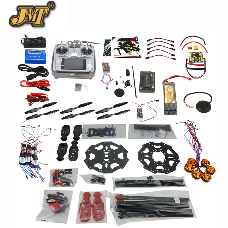 JMT DIY Full Set Helicopter Drone 6-axis Aircraft Kit Tarot 680PRO Frame 700KV Motor GPS APM 2.8 Flight Control AT10Transmitter drone upgraded apm2 6 mini apm pro flight controller neo 7n 7n gps power module