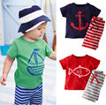 Baby Boys Toddlers 2PCS set Short sleeve Tops T-shirt +Pants Outfits Suit 0-5Y