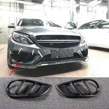C Class углеродного волокна переднего бампера вентиляционное отверстие Выход Обложка отделка сетки гриль рамка для Mercedes W205 C63 AMG C180 c200 2015-2017