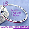 LS High Quality Real 925 Silver Multicolor Radiant Hearts Bangle Fit Original Charms Beads Pulseira Encantos