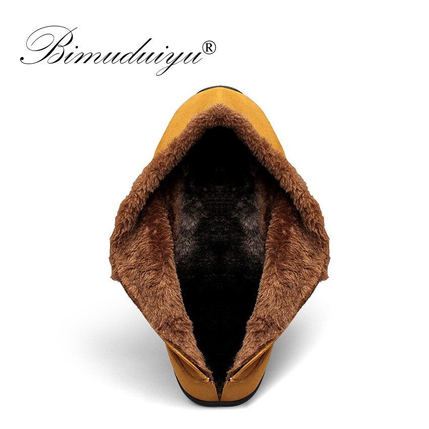 Guida 47 Uomo Mocassino pelliccia con Casual caldo 48 Scarpe Grigio Inverno morbida pelle Size Mocassini scamosciata in Bimuduiyu giallo Plus 6XaqRXd