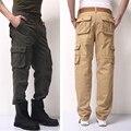 30-44 Alta Calidad de Los Hombres joggers Pantalones de Carga Militar para Los Hombres de varios Monos de bolsillo táctico Del Ejército Pantalones de Camuflaje moda