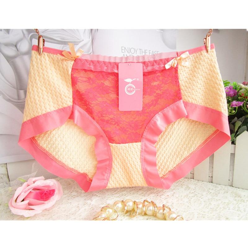 Special Offer Wholesale Bubble Breathable Cotton Lace Color Super Elastic Bow Girls Underwear Low Waist Underwear