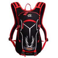 18lライト防水ランニングサイクルハイドレーションバックパックリップストップ自転車オートバイbackバッグ(オプション2l tpu水膀胱)