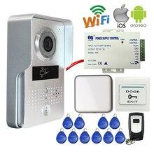 Envío Libre de Metal Cámara RFID Video Portero Timbre Inalámbrico WIFI para Android IOS Teléfono Vista Remota y Grabación de Vídeo de Interior Campana