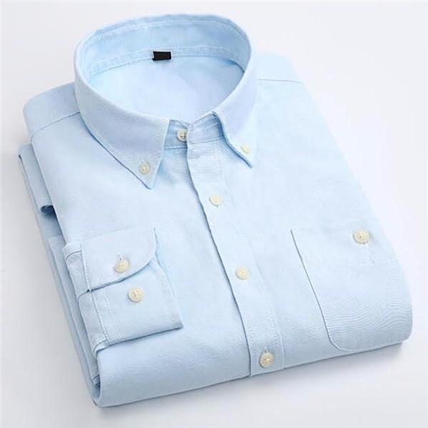 Candy Color Men's Shirt Oxford Classic Cotton Long Sleeve Business Dress Shirts Formal Social Brand Clothing Chemise Homme X154 9