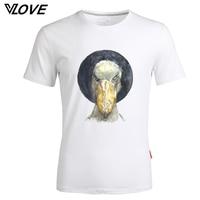 Fashion 2017 Men T Shirt Bird Funny Printed T Shirt Summer Mens Casual T Shirts O