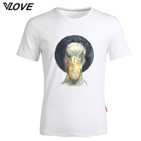 Fashion 2017 Men T Shirt Bird Funny Printed T Shirt Summer Mens Casual T Shirts O