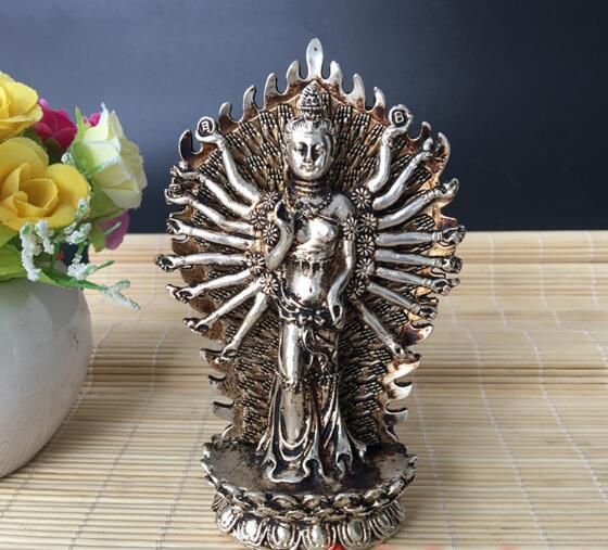 Miscellaneous antiques collection of vintage bronze gilt silver gilt silver copper ornaments paktong Avalokitesvara ornamentsMiscellaneous antiques collection of vintage bronze gilt silver gilt silver copper ornaments paktong Avalokitesvara ornaments