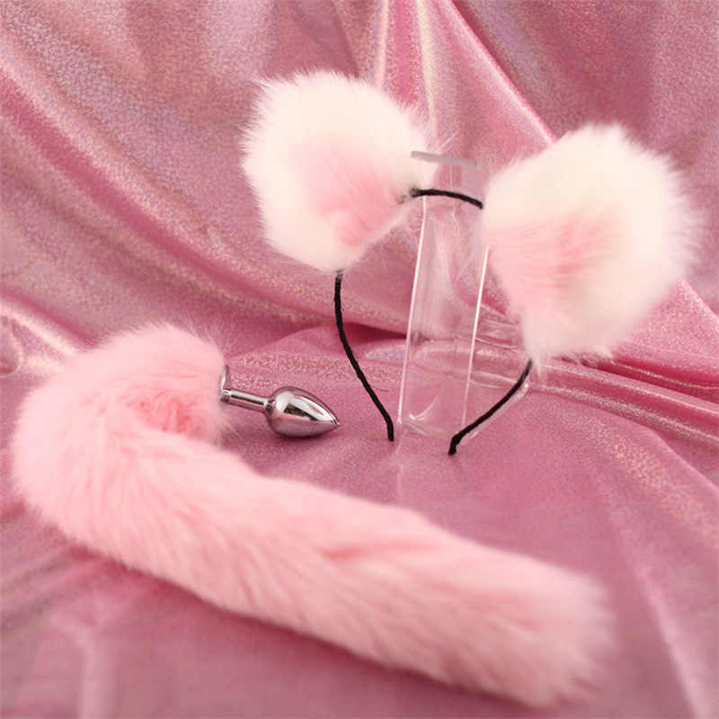 5d387cc4c7c Detail Feedback Questions about Women Accessories Set bunny tail ...