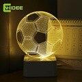 Cinco Cores de Luz Bola De Futebol USB 3D Ilusão Noite Futebol luzes de Mesa De Toque Levou Lampara como Home Decor Quarto Luz Nocturna
