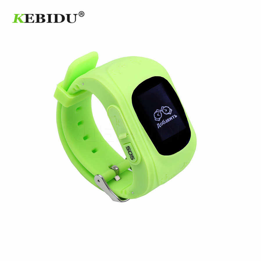 Kebidu Anti Lost Reminder Russian GPS Smart Watch Tracker For Kids SOS GSM For Android Emergency GSM Smart Bracelet Wristband