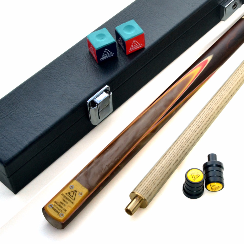 CUESOUL 57 2 Piece Jointed Snooker / Pool Cue Hand-Spliced with Leatherette Cue Case cuesoul classic handmade 57 inch rosewood 3 4 piece snooker cue black cue case and cue extension