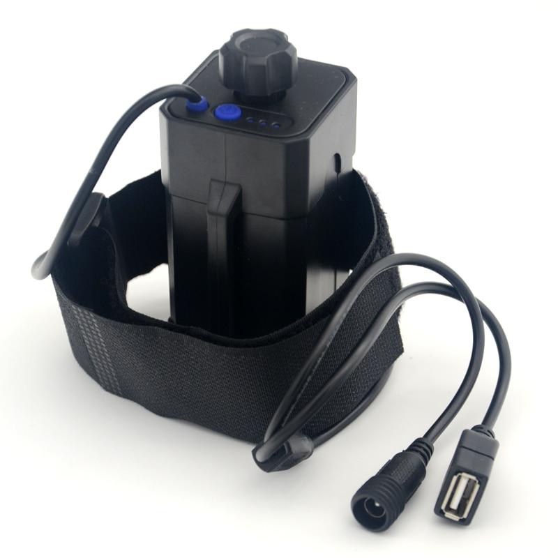 Support pour éclairage de bicyclette, batterie boîtier de rangement étanche 4x18650 boîtier pour vélo lumière LED (batterie non incluse)