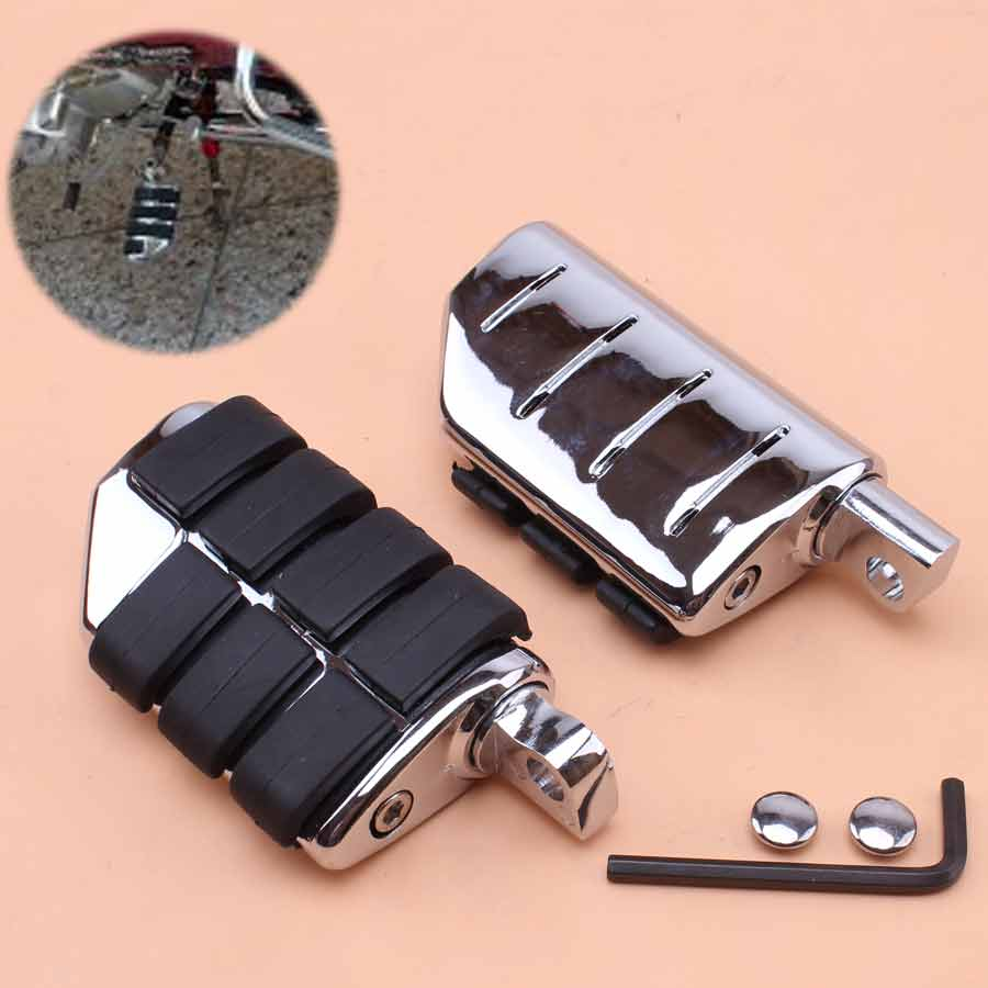 Chrome Black Motorcycle Footrest Foot Pegs Driver Passenger Anti Vibration Skidproof For Harley Davidson Sportster