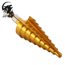 Jelbo 1pcs Drill Bits HSS Steel Titanium Step Drill 4-20mm Step Cone Cutting Tools Steel Step Drill Bits Power Tool