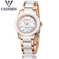 2017 Women's Watches Luxury Brand New Geneva Ladies Quartz watch Girl Rose Gold Ceramic Wristwatch Relogio Feminino Clock