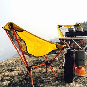 Image 4 - สวน Gaming Ultra Light เก้าอี้แบบพกพาที่นั่งสีเหลืองน้ำหนักเบาเก้าอี้ตกปลา Camping เก้าอี้พับกลางแจ้งเฟอร์นิเจอร์ 7075