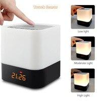 Wireless Bluetooth Speaker Alarm Clock LED Digital Electronic Table Watch Wake Up Light Nixie Night Clock For Children Column Su