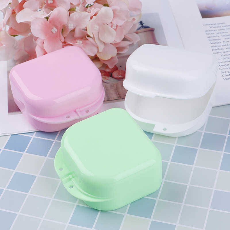 Colorful Dental Retainer Braces Mouthguard Night Grinding Guard Denture Storage Case Container Box High Quality