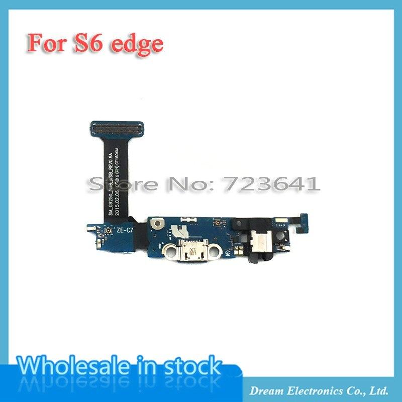 imágenes para 10 unids/lote nuevo cargador de carga usb puerto conector dock cargador cable de la flexión para samsung galaxy s6 edge g925f g9250 auricular flex