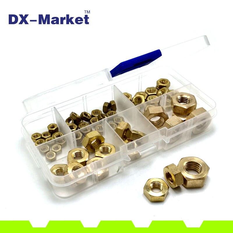m2-m10 , 130pcs , 7size Metric Thread Hex Nut brass Hexagonal Nut kit , m2 , m3 , m4 , m5 , m6 , m8 , m10 james patterson michael ledwidge tick tock