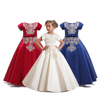 31774d2a67 4-15 Y Teen Wedding Dress Kids Elegant Long Prom Dresses for Girls