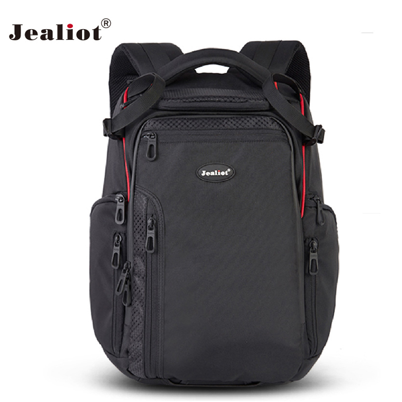 2017 Jealiot Multifunctional Professional Camera Bag laptop waterproof Backpack digital camera Photo Bags for DSLR Free shipping jealiot 2 in 1 multifunctional waterproof shockproof professional camera bag backpack dslr video photo bags for canon nikon sony