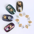 10 Pçs/set 3D Decoração de Unhas de Ouro/Prata Oca-out Design Diamante Nail Art Decoração