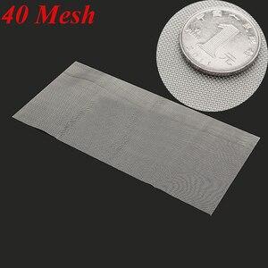 Image 5 - 5/8/20/30/40 Mesh tkanina tkana ze stali nierdzewnej przewód do ekranu arkusz filtra 6x12