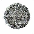 Rhodium Silver Plated Clear Rhinestone Diamante Crystal Brooch