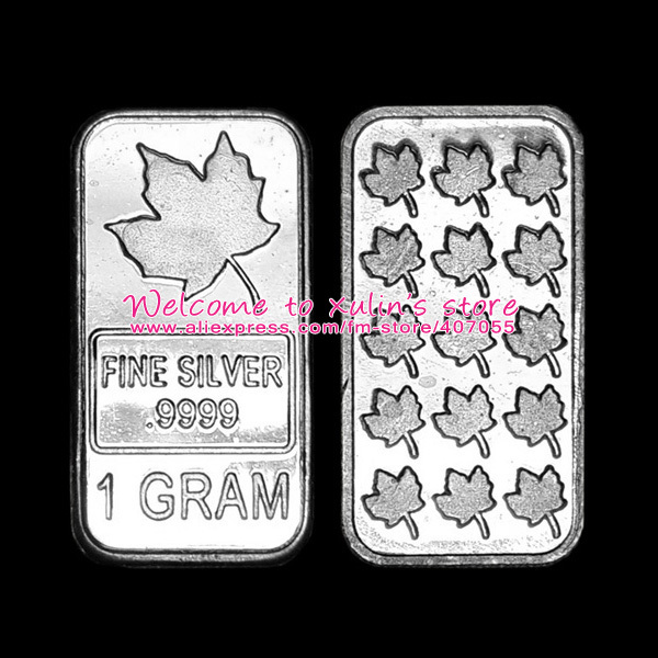 Xds0014 10 Pieces Silver Bullion Bars Classic Canada Maple