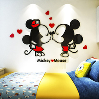 Cute cartoon acrylic 3d wall sticker creative living room bedroom baby bedside children room kindergarten decorative painting