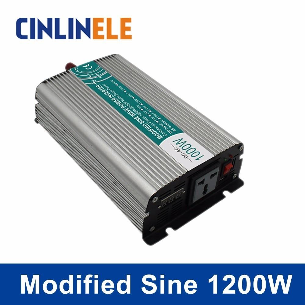 цена на Smart Modified Sine Wave Inverter 1200W CLP1200A DC 12V 24V to AC 110V 220V Smart Series Solar Power 1200W Surge Power 2400W