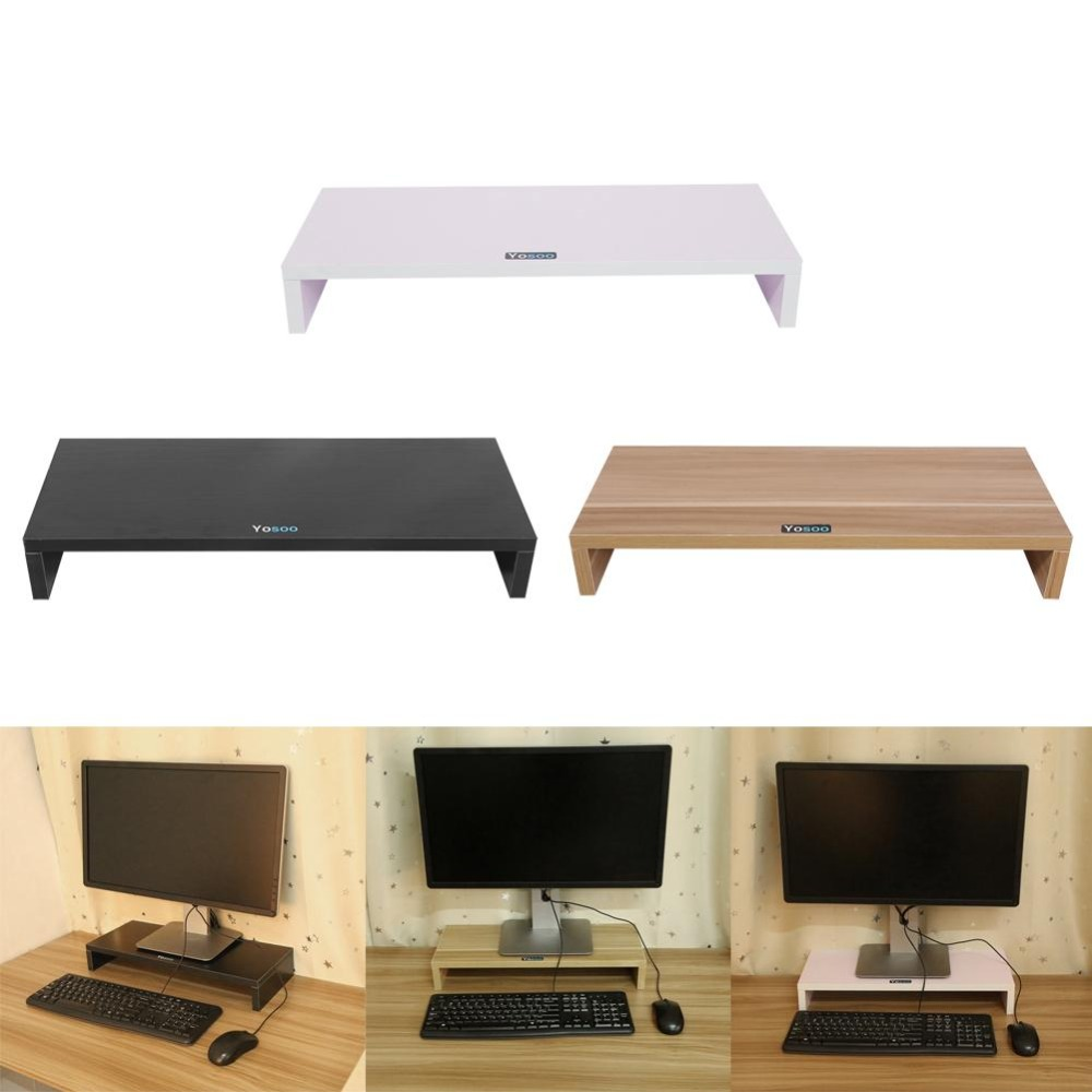 Shelf Laptop-Stand Notebook Computer-Screen-Riser Multi-Function Wood Plinth Strong Desk-Holder