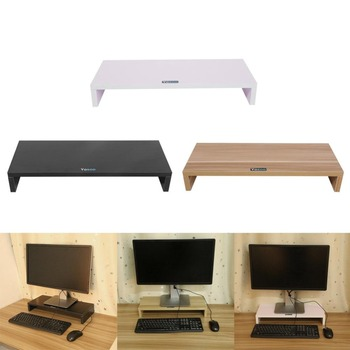 Multi-function Desktop Monitor Stand Computer Screen Riser Wood Holder Plinth Strong Laptop Desk Notebook TV Shelf - discount item  28% OFF Home Furniture