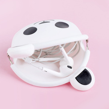 Lovely Coin Purse Made Of Silicone Panda Shape Women Wallet Card Cute Key Container Kids Gift недорого