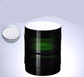 Hot 100G green plastic jar cream jar with black plastic lid  Cosmetic Packaging
