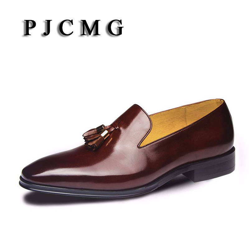New  Fashion High Quality Comfortable Tassel Loafers Genuine Leather Loafers Pointed Toe Flats Oxfords  Men Shoes new listing pointed toe women flats high quality soft leather ladies fashion fashionable comfortable bowknot flat shoes woman