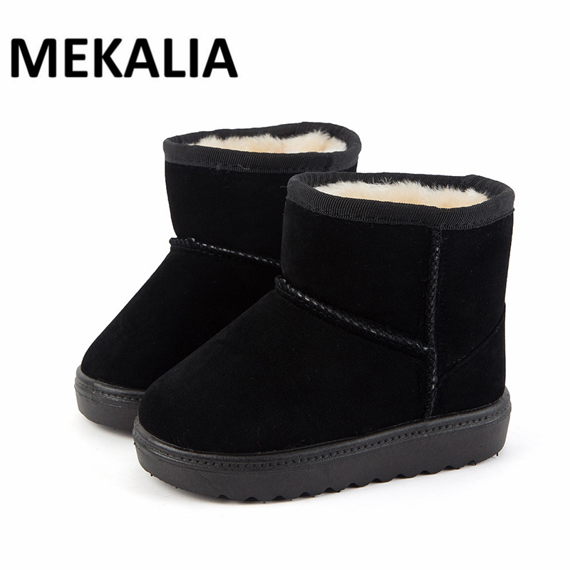 2017 New Kids Winter Boots Synthetic Pu Upper and Warm Kids Shoes Convenient Boys and Gi ...