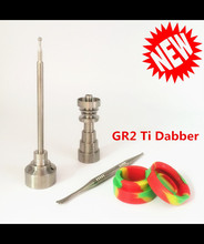 (Factory Directly Selling) Domeless Titanium Nails Universal Carb Cap with Dabber set