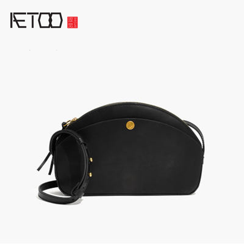 AETOO Women Cowhide oblique bag half moon package true shellfish shell simple wild футболка born to be wild