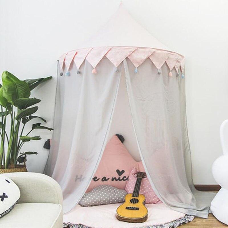 Tente de Tipi pour enfants pliable Tipi berceaux en coton suspendus Wigwam piscine sèche nouveau-nés nordique chambre décor accessoires de photographie